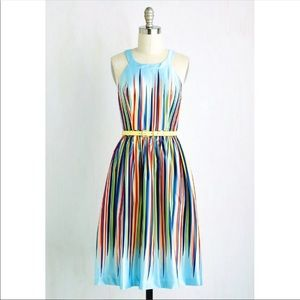ModCloth Rainbow What's The Zeal Dress Small